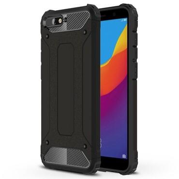 "Robustní obal ""Rock"" pro Huawei Y6 2018 / Honor 7A - černý"