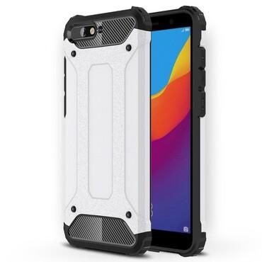 "Robustní obal ""Rock"" pro Huawei Y6 2018 / Honor 7A - bílý"