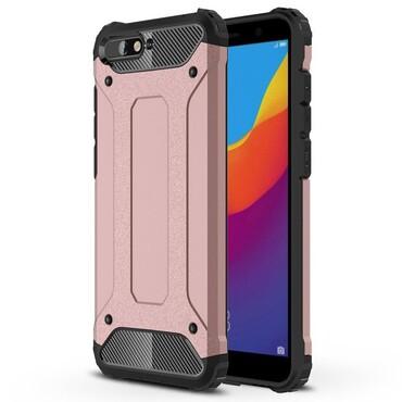 "Robustní obal ""Rock"" pro Huawei Y6 2018 / Honor 7A - růžový"