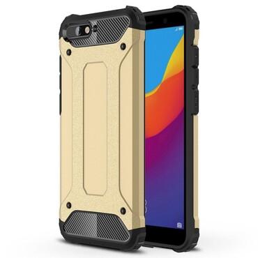 """Robustní obal """"Rock"""" pro Huawei Y6 2018 / Honor 7A - zlaté barvy"""