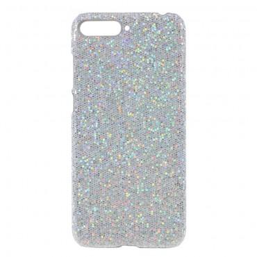"Třpytivý obal ""Disco Glitter"" pro Huawei Y6 2018 / Honor 7A - stříbrný"