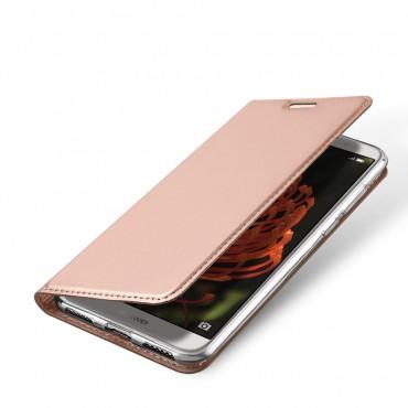 """Módní kryt z umělé kůže """"Skin"""" pro Huawei Y6 2018 / Honor 7A - růžový"""