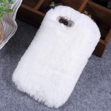 """Módní obal """"Fluffy"""" pro Huawei Honor 10 - bílý"""