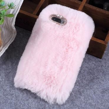 """Módní obal """"Fluffy"""" pro Huawei Honor 10 - růžový"""