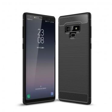 "Kryt TPU gel ""Brushed Carbon"" pro Samsung Galaxy Note 9 - černý"