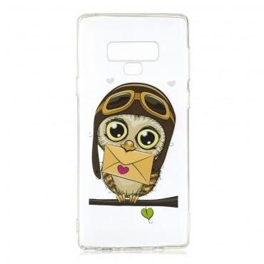 "Tenký kryt TPU gel ""Owl"" pro Samsung Galaxy Note 9"