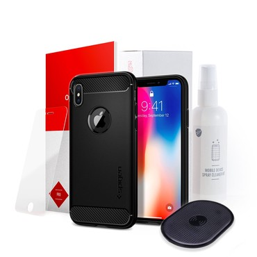 """""""Charge and Protect"""" 4Pack pro iPhone X"""