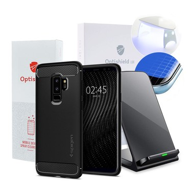 """Charge and Protect"" 4Pack pro Samsung Galaxy S9 Plus"