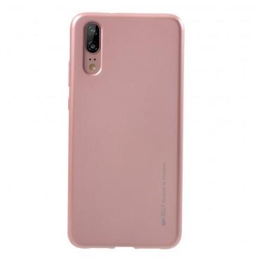 Kryt TPU gel Goospery iJelly Case pro Huawei Y6 2018 / Honor 7A - růžový