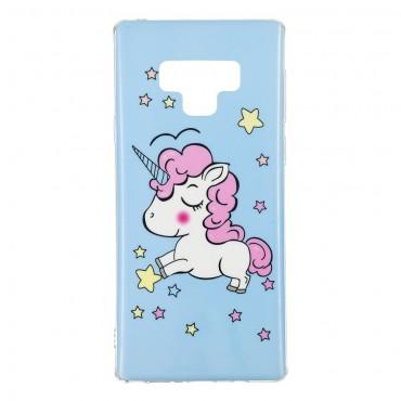 """Kryt svítící ve tmě """"Unicorn"""" pro Samsung Galaxy Note 9"""