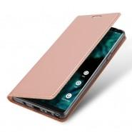 """Módní pouzdro """"Skin"""" pro Samsung Galaxy Note 9 z umělé kůže - růžové"""