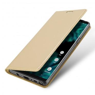 """Módní pouzdro """"Skin"""" pro Samsung Galaxy Note 9 z umělé kůže - zlatý"""