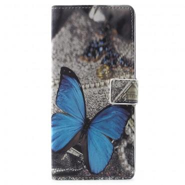 """Módní pouzdro """"Blue Buttefly"""" pro Samsung Galaxy Note 9"""