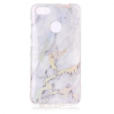 """Módní obal """"Marble"""" pro Huawei P9 Lite Mini - bílý"""