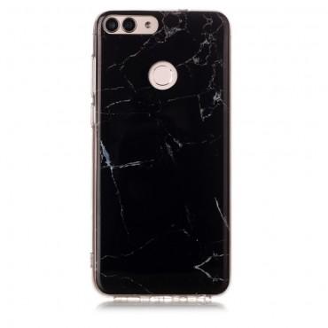 """Módní kryt """"Marble"""" pro Huawei P Smart - černé"""