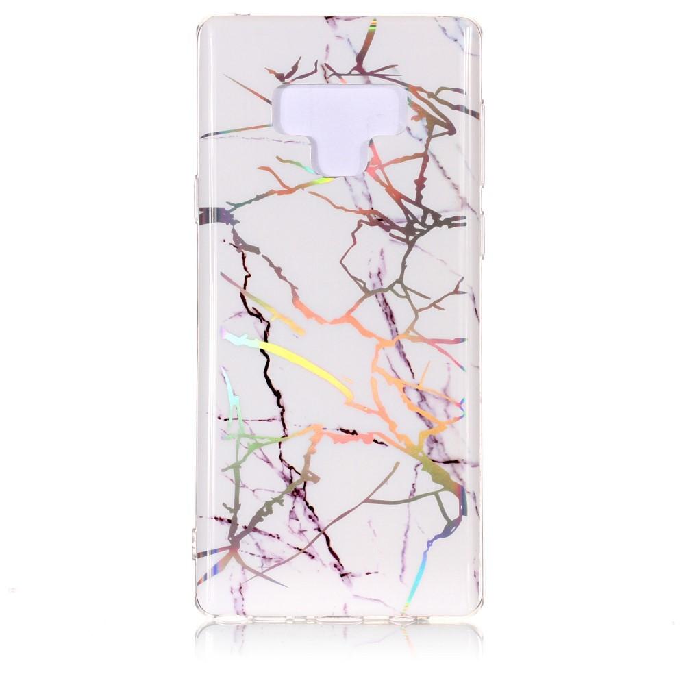 """Módní kryt """"Marble"""" pro Samsung Galaxy Note 9 - bílý"""