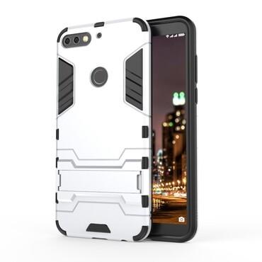 """Robustní kryt """"Impact X"""" pro Huawei Y7 Prime 2018 / Y7 2018 - ve stříbrné barvě"""