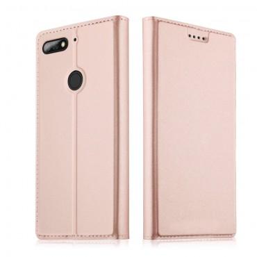 """Módní pouzdro """"Skin"""" pro Huawei Y7 Prime 2018 / Y7 2018 z umělé kůže - růžové"""