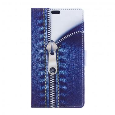 """Módní pouzdro """"Jeans Zipper"""" pro Huawei Y7 Prime 2018 / Y7 2018"""