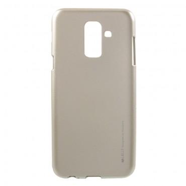 TPU gelový obal Goospery iJelly Case Samsung Galaxy A6 Plus 2018 - zlaté barvy