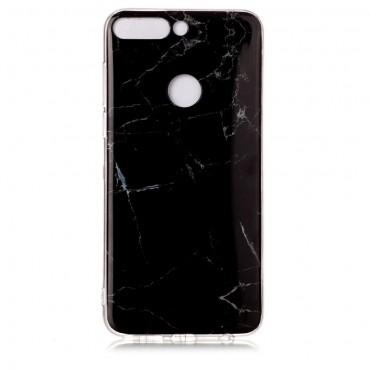 """Módní kryt """"Marble"""" pro Huawei Y7 Prime 2018 / Y7 2018 - černé"""