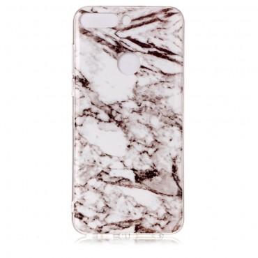 "Módní kryt ""Marble"" pro Huawei Y7 Prime 2018 / Y7 2018 - bílý"