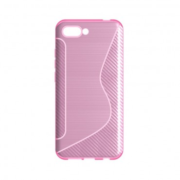 "TPU gelový obal ""S-Line"" Huawei Honor 10 - růžový"