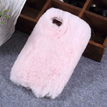 "Módní obal ""Fluffy"" pro Huawei Y5 2018 / Y5 Prime 2018 / Honor 7s - růžový"