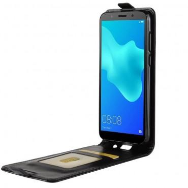 Módní flip pouzdro pro Huawei Y5 2018 / Y5 Prime 2018 - roza - černý