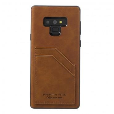 """Pouzdro """"Cardie"""" pro Samsung Galaxy Note 9 z umělé kůže - hnědé"""
