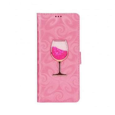 """Pouzdro """"Glass"""" pro Samsung Galaxy Note 9 z umělé kůže - růžové"""