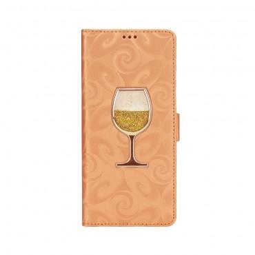 """Kryt z umělé kůže """"Glass"""" pro Samsung Galaxy Note 9 - zlaté barvy"""