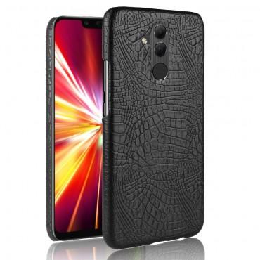 """Obal z umělé kůže """"Croc"""" pro Huawei Mate 20 Lite - černý"""
