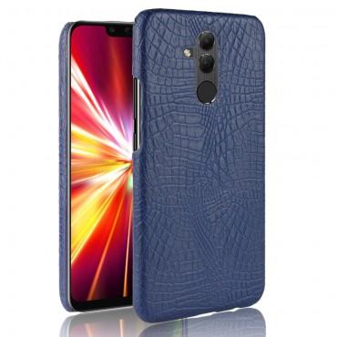 """Obal z umělé kůže """"Croc"""" pro Huawei Mate 20 Lite - modrý"""