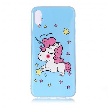 """Kryt svítící ve tmě """"Unicorn"""" pro iPhone Xs Max"""