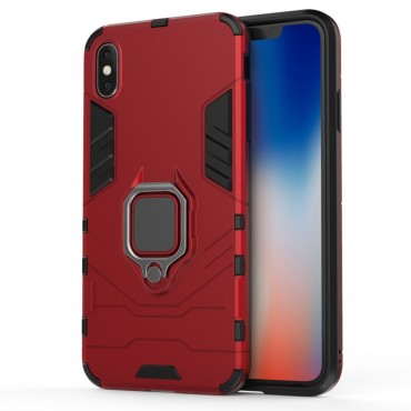 """Robustní obal """"Impact X Ring"""" pro iPhone XS Max - červený"""