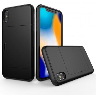 """Hybridní kryt TPU gel """"Slot"""" pro iPhone Xs Max - černé"""