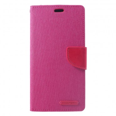 Pouzdro Goospery Canvas Diary pro iPhone Xs Max - růžové