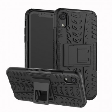 """Hybridní gelový TPU obal """"Tough"""" pro iPhone XR - černý"""