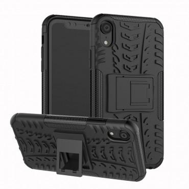 """Hybridní kryt TPU gel """"Tough"""" pro iPhone XR - černé"""