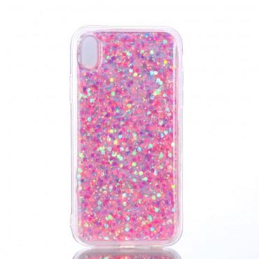 """Módní obal """"Liquid Glitter"""" pro iPhone XR - růžový"""