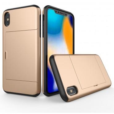 """Hybridní kryt TPU gel """"Slot"""" pro iPhone XR - zlatý"""