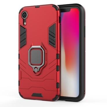 "Robustní kryt ""Impact X Ring"" pro iPhone XR - červené"