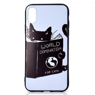 "Kryt TPU gel ""Cat Domination"" pro iPhone XR"
