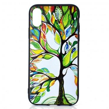 "TPU gelový obal ""Colorful Tree"" pro iPhone XR"