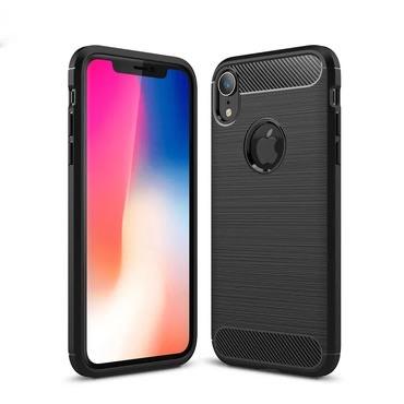 "Kryt TPU gel ""Brushed"" pro iPhone XR - černý"