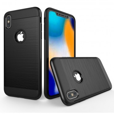 "TPU gelový obal ""Brushed"" pro iPhone XR - černý"
