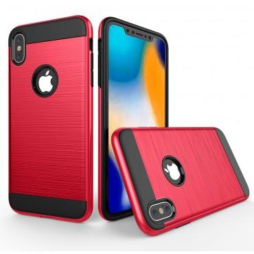 "Kryt TPU gel ""Brushed"" pro iPhone XR - červené"
