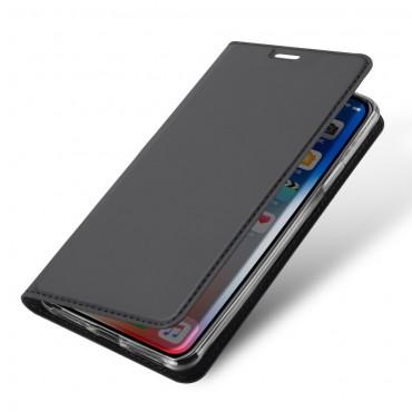 """Módní pouzdro """"Skin"""" pro iPhone XR z umělé kůže - šedý"""