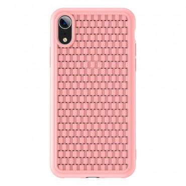 """TPU gelový obal """"Woven"""" pro iPhone XR - růžový"""
